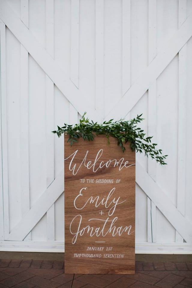 sign swags, greenery only | $35