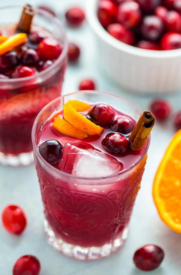 Cranberry Cinnamon Whiskey Sour