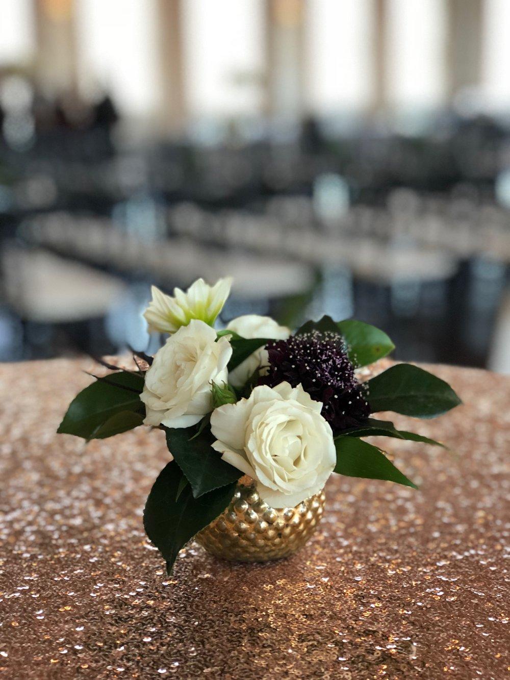 cocktail tables - tiny arrangements