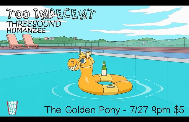 Quench your Thursday thirst tomorrow at the @goldenponyva with #Tooindecent and friends @threesound and Humanzee.
