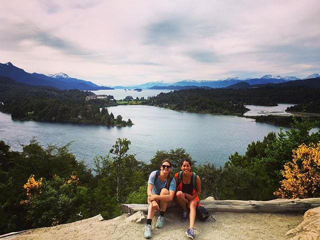 We biked 25 km and walked our bikes up 5km of steep inclines to catch this view. It wasn't easy and our legs aren't too happy with us, but it was worth every drop of sweat to see some of the most beautiful scenery in the world. #theshareddivide #argentina #tinayoufatlard #bariloche