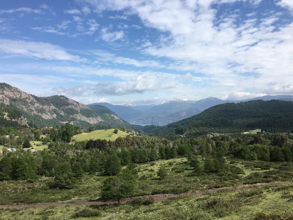 View overlooking the valley leaving San Martin de los Andes.