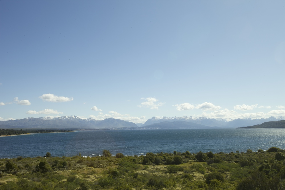Driving back into Bariloche (you can see it in the very distance) overlooking Lago Nahuel Huapi.