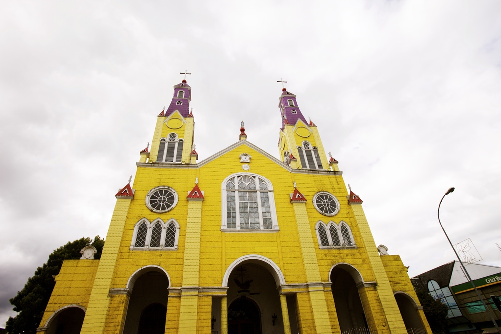 One of the famous churches in  Chiloé.