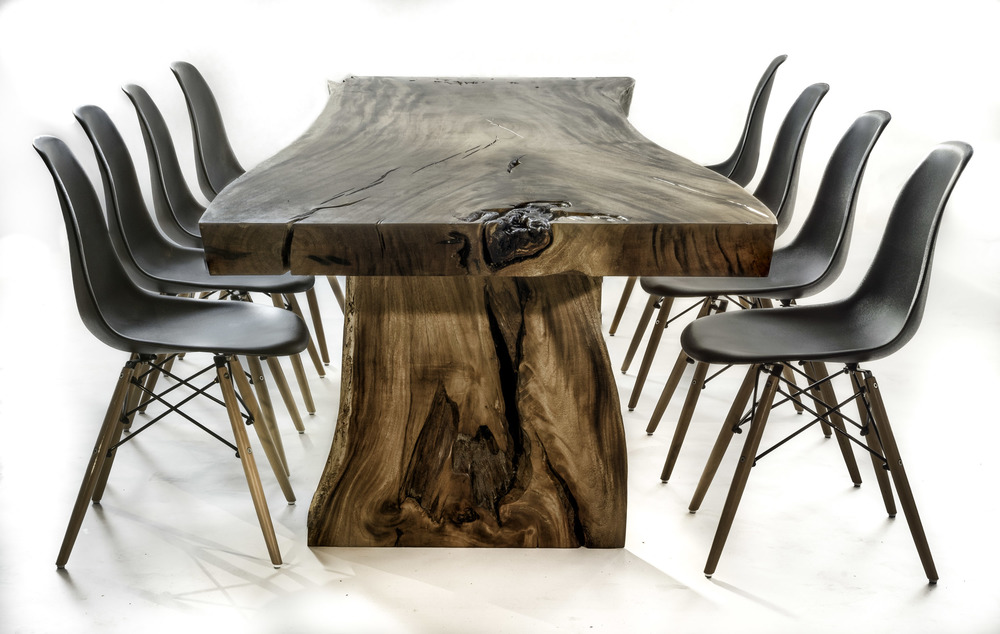 Wood Table with wood base