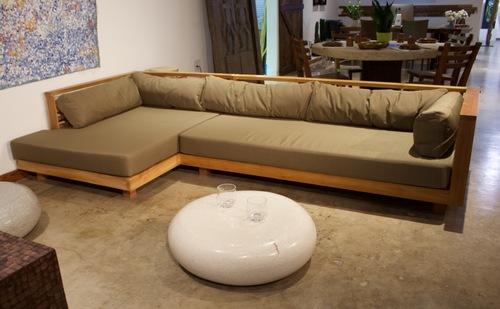 Teak wood L Shape sofa — ARKA Living