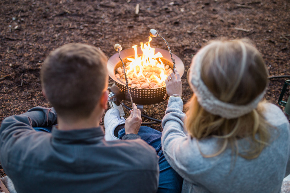 Smores engagement session