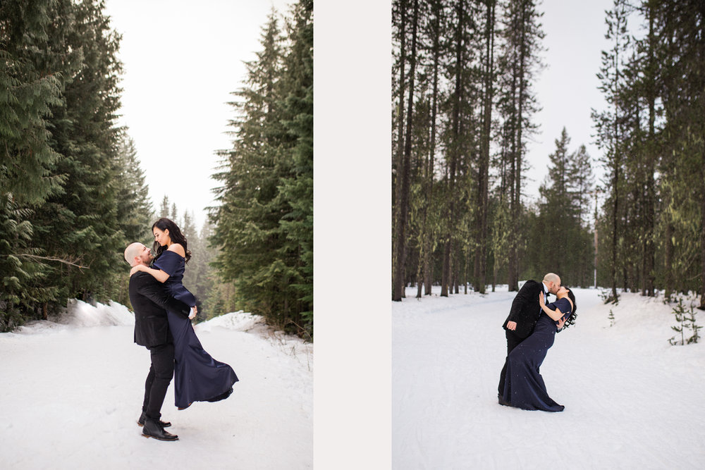 Trillium Lake Snowy Mt Hood, Oregon Romantic Engagement Session.jpg