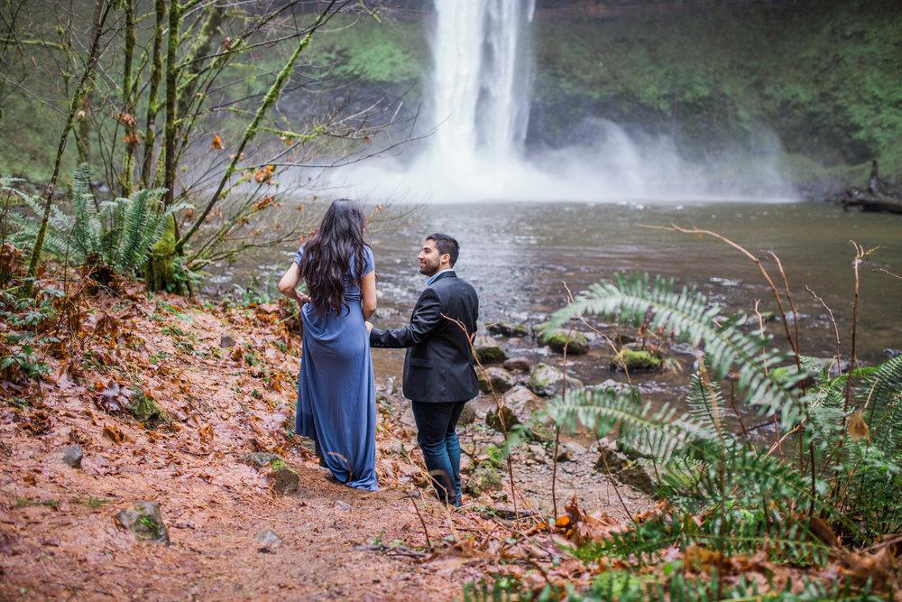Silver Falls Engagement Session, Oregon wedding photographer