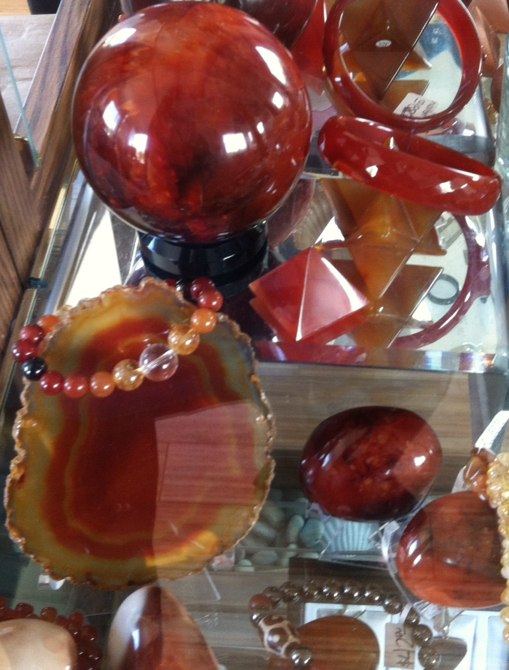 Carnelian stone items and jewelry