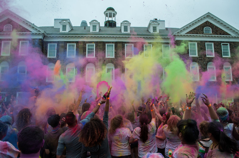 Dalhousie students partake in the Halifax Festival of Colors.