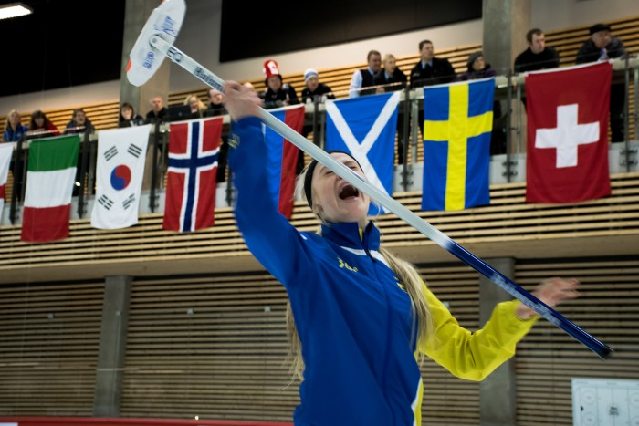 Pure devastation from the Swedish skip at the 2015 World Junior Curling Championship finals.