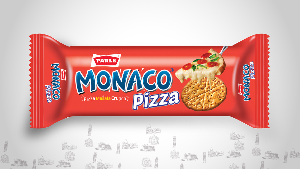 Parle Monaco Pizza Packaging Design