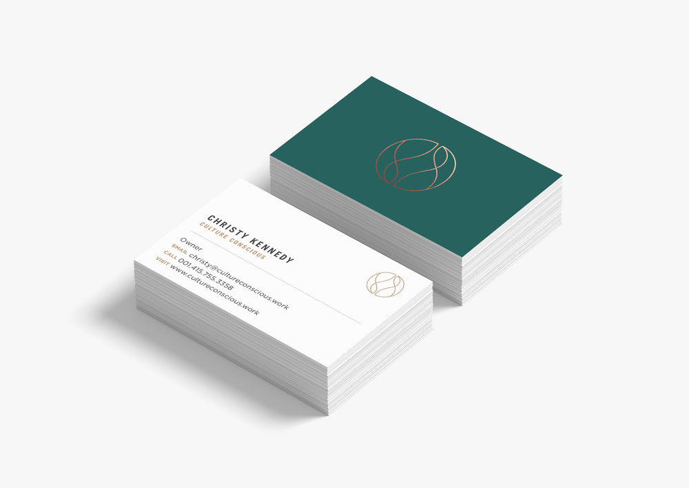 Custom two sided business card design
