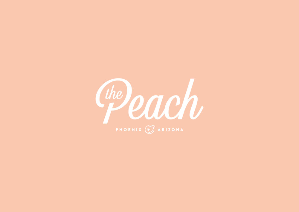 Creative logo design and branding for The Peach by Sonora Leigh Creative Studio