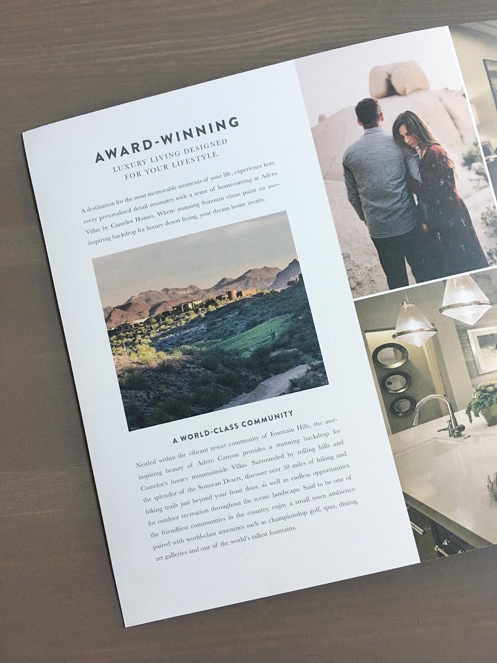Magazine full page advertising design