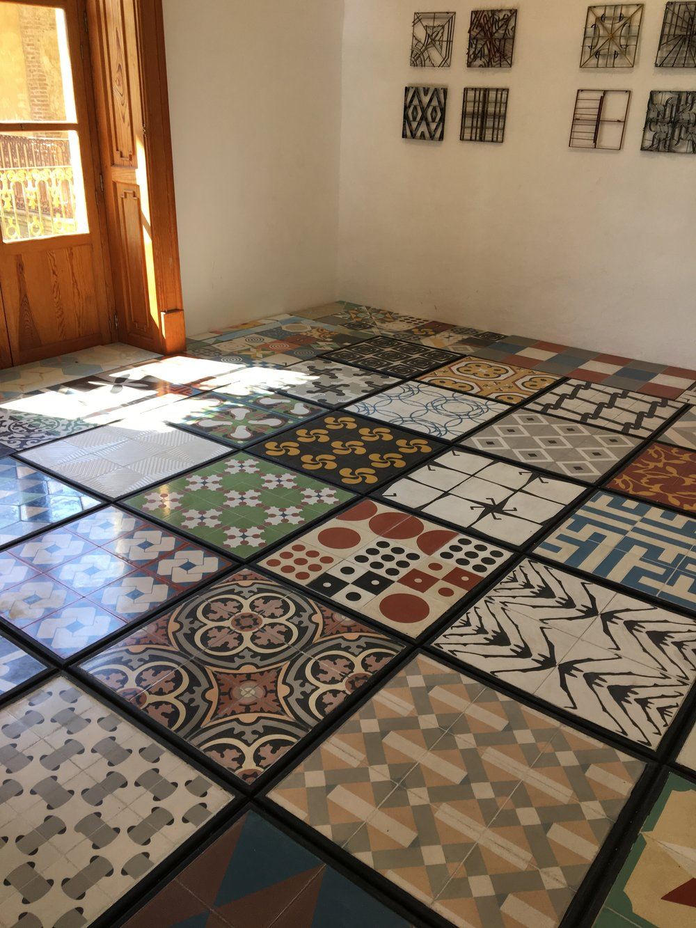 Installation at a handmade tile show