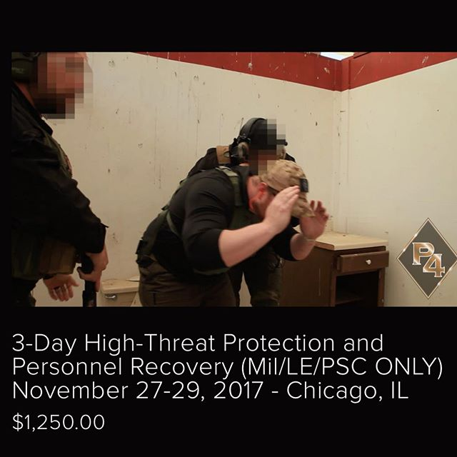 #Repost @p4secure (@get_repost) ・・・ The P4 team will be conducting a High-Threat Protection and Personnel Recovery course this November in our hometown of Chicago, IL. This will be the first time our veteran protection specialists share the leading edge SOPs that keep our clients safe in non-permissive environments around the world. For anyone interested in OCONUS protection work, this course will put you out front! Student-Operators will receive unparalleled insight into the world of protective ops, private and gov't contract vehicles, and be introduced into a great network of industry professionals who will help put you on the path to your next career, and an unbeatable adventure!  For more information call our office and ask to speak with someone in the Personnel Protection Division 312-502-1702 or sign up today on our website (link in bio). #protection #personnelprotection #executiveprotection #diplomaticsecurity #vipprotection #psd #privatesecurity #notabodyguard #nomorefakesecurity