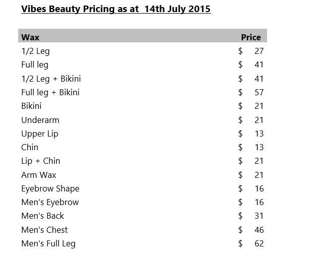 Beauty price 1