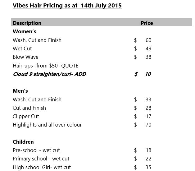 Price List part one.JPG