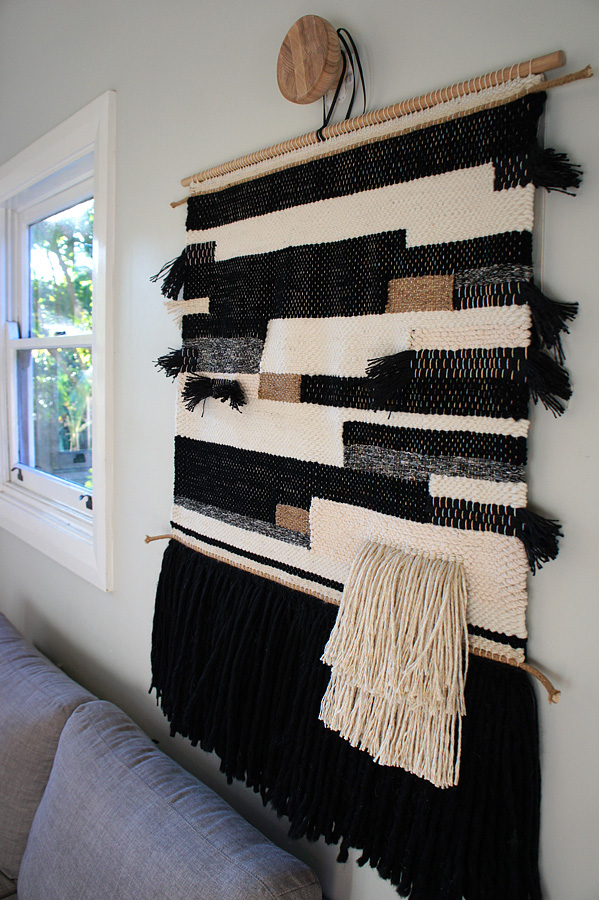 XL Boho Weave no.2 Woven Wall Hanging Natalie Jones contemporary fibreart side view 1.jpg