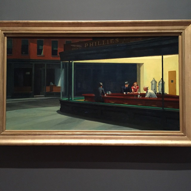 Nighthawks by Edward Hopper in Chicago! Talk about art inspo!! #Classic #nighthawksatthediner