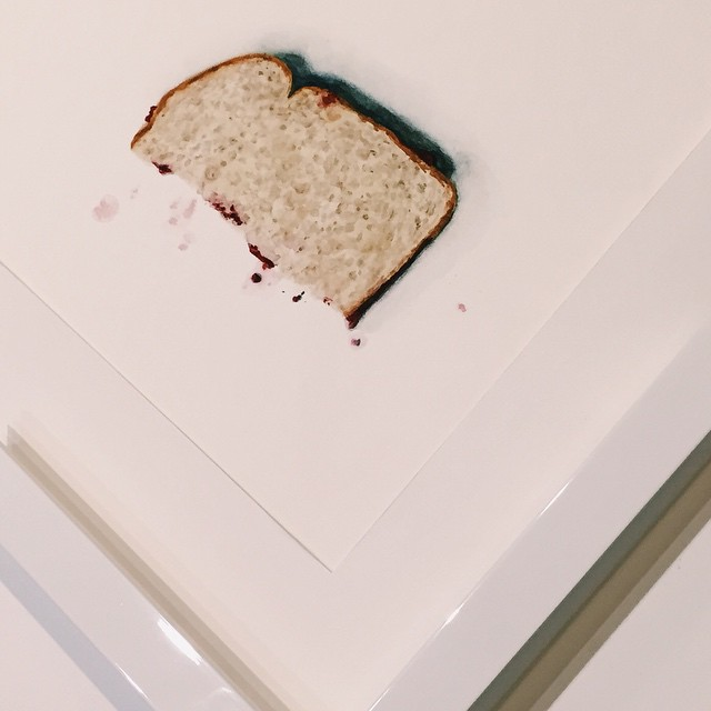 PB&J anyone? All white for this watercolor piece! 🍇