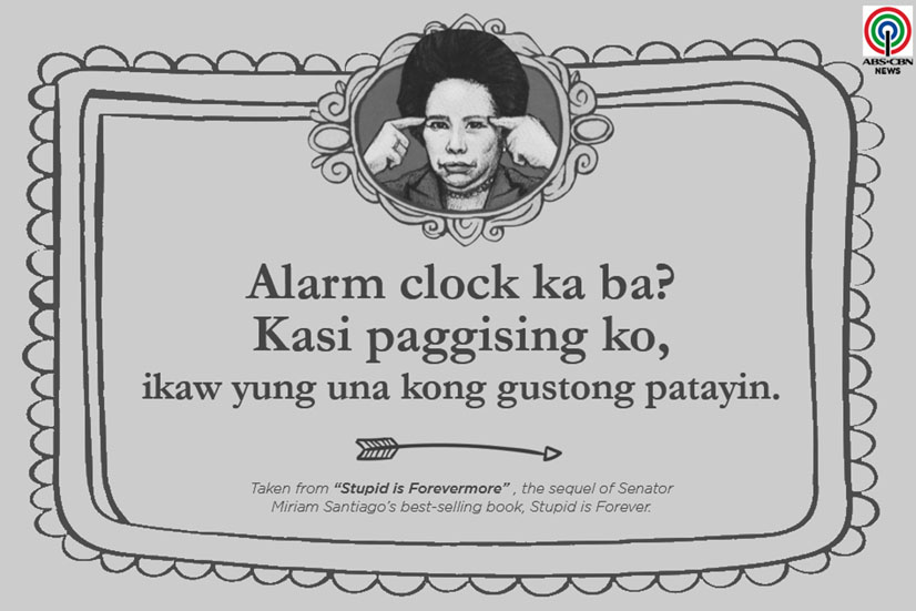 Miriam Defensor Santiago Quote About Alarm Clock