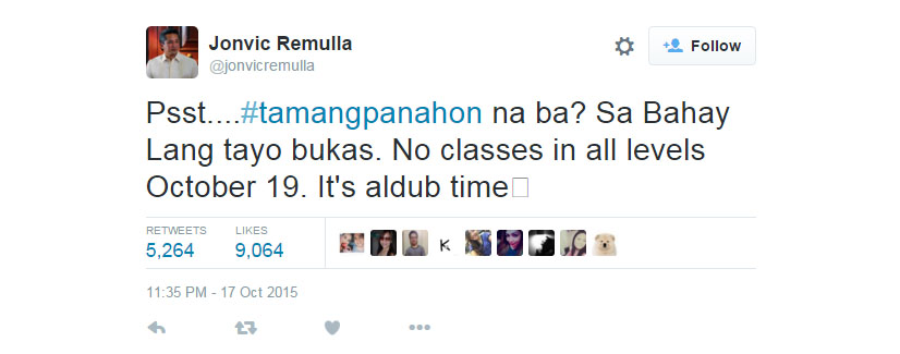 Jovic Remulla Class Suspension Post About TamangPanahon