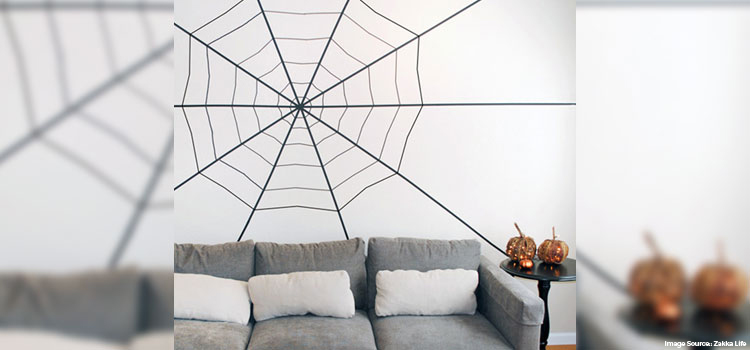 Spiderweb Wall (Using Black tapes)