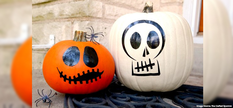 No-Carve Pumpkins with Sharpie