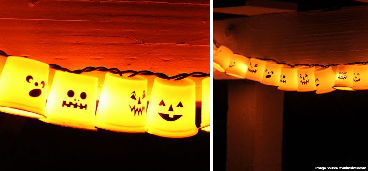 Halloween String lights using Paper cups