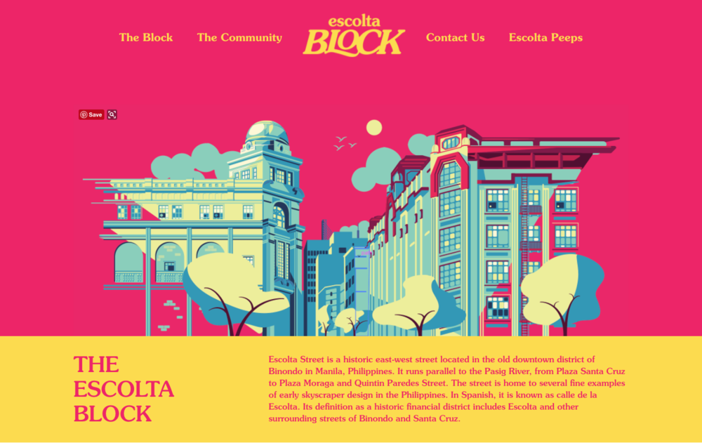 Screenshot from of the Escolta Block website (www.escoltablock.com)