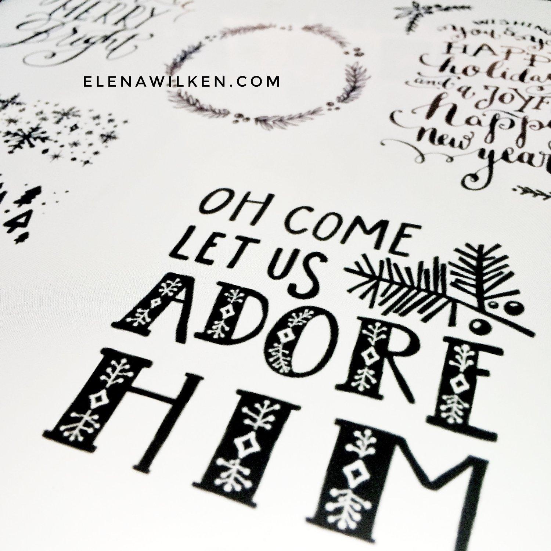 Handlettered - in the Christmas spirit — Elena Wilken