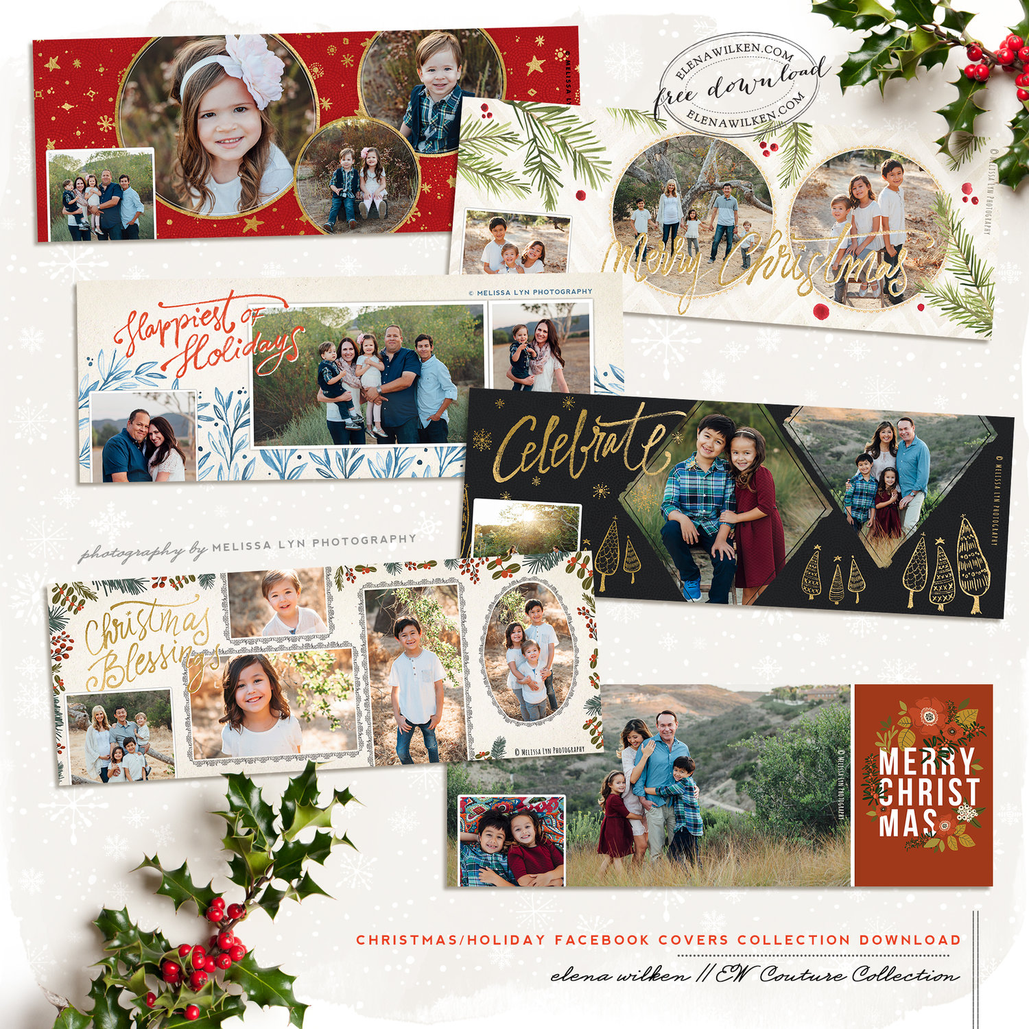 custom facebook christmas and holiday timeline covers elena wilken