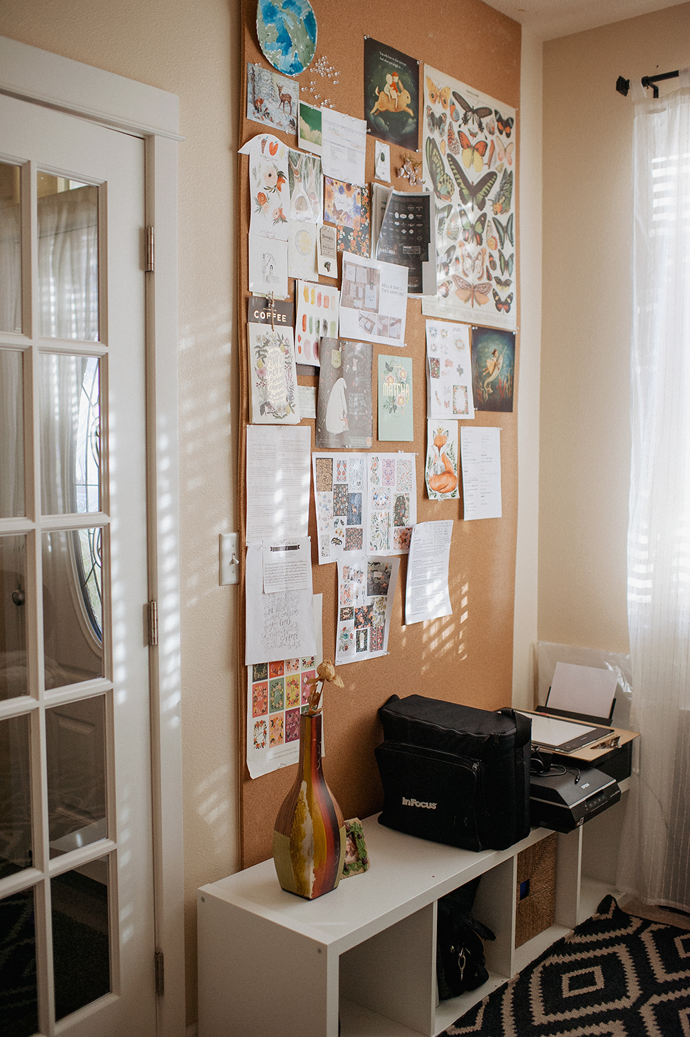 How To Install Your Own Cork Board Wall Area Elena Wilken