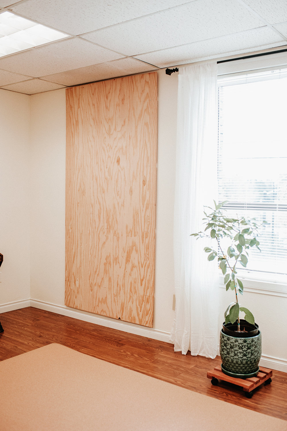 Diy Cork Board Office Wall Plywood Mounted