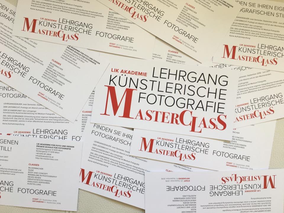 LIK Masterclass 2016/17 - Lehrgang künstlerische Fotografie