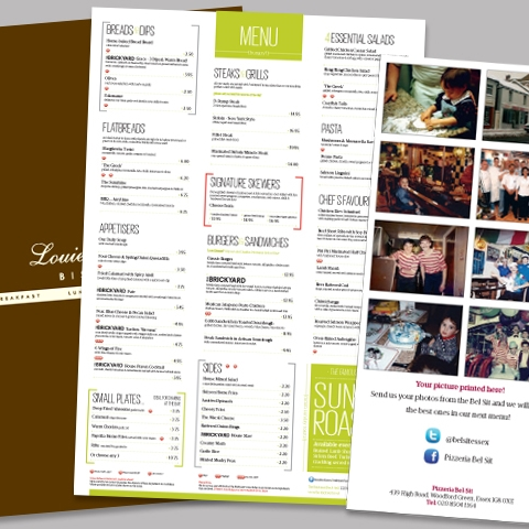 Restaurant Menu's