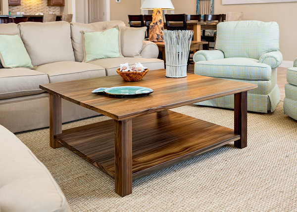 """River Reclaimed Cypress  48""""L x 48""""W x 18""""H Coffee Table  Natural Finish  Sealed in European Harding Oil  Fryman"""