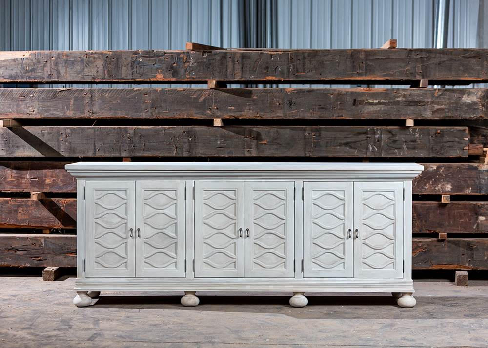 """Solid Appalachian Poplar  20""""L x 24""""W x 30""""H Media Console  Hand Applied Sand Dune Faux  Sealed in Matte Varnish  McGriff"""