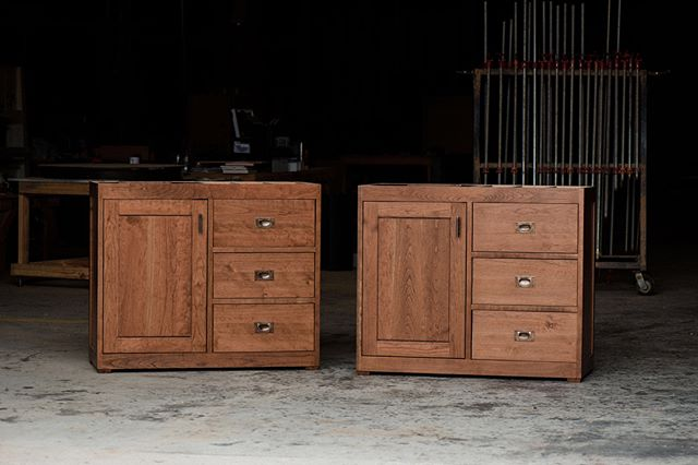Check out these Custom Matching Vanities handcrafted from solid Appalachian cherry and stained in a deep dark chocolate.  Dream, Design, Build with Armored Frog. {shown in SOLID APPALACHIAN CHERRY + STAINED IN A DEEP DARK CHOCOLATE + SEALED IN SATIN VARNISH + EMBELLISHED WITH SOLID BRONZE HARDWARE & SOFT CLOSE DRAWER SLIDES}