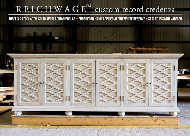 Although our lives may not be focused around material possessions, some items we collect are worth taking special care of. Custom credenza designed and built to precisely store the vinyl albums of a man with a passion for music.