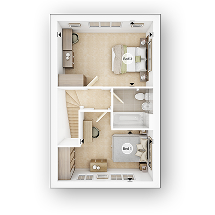 Taylor Wimpey - 2 bedroom new home - The Fircroft FF.jpg