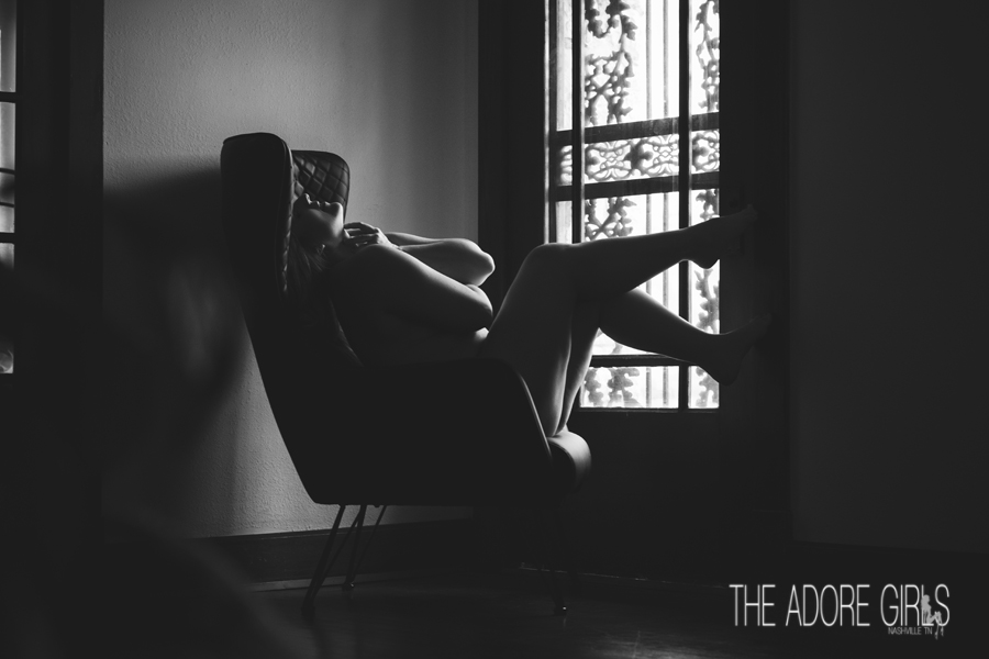 The Adore Girls Boudoir Photography chair window