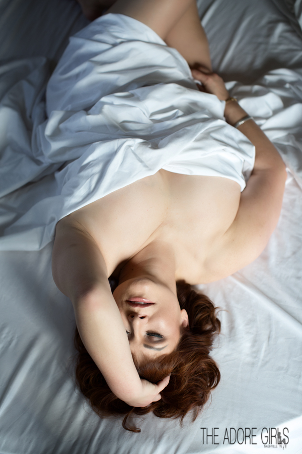0426  Boudoir-Photography-The Adore Girls-Nashville- white sheets
