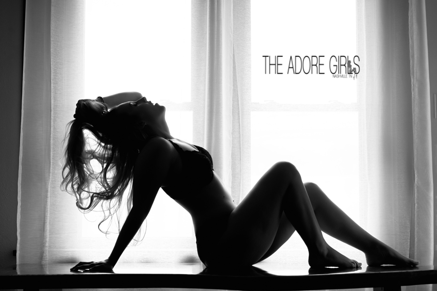 The Adore Girls Boudoir Photography window silhouette