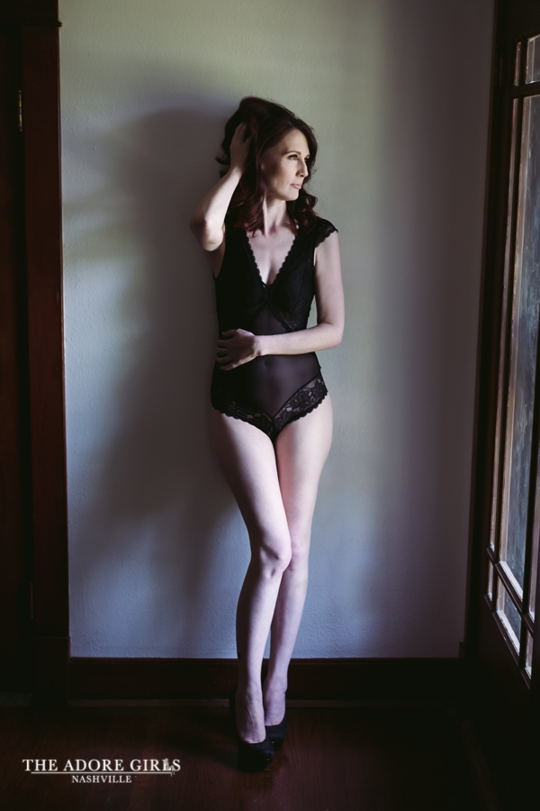 The Adore Girls Boudoir Photography Nashville black bodysuit