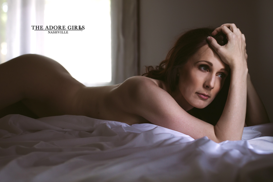 The Adore Girls Boudoir Photography Nashville sheets