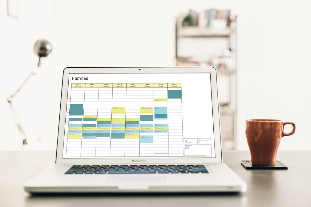 Calendars - Consolidate the Canvas into a number of focused Calendars across an entire itinerary. Compare and contrast guest segments, venues, and staff schedules.